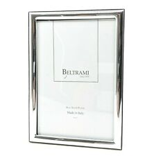"NEW Beltrami SILVER PHOTO FRAME 4"" x 6""  999 ITALY FREE SHIPPING"