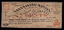 UNITED STATES OF AMERICA 25 CENTS 1862 GREENSBORO MUTUAL  XF.