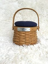 Longaberger 2003 Hostess Appreciation Basket Indigo Pin Cushion Lid/Liner/Prot