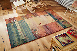 Gabbeh Traditional Tribal Design High Quality Durable Area Rugs Hall Runner