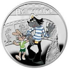 "2010 Niue Proof Color Silver $1 Cartoon Characters""Nu Pogodi""-Wolf and Rabbit"