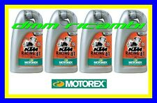 4 Litri Olio Motore 4 tempi MOTOREX KTM racing 20W60 100% Sintetico Lubrificante