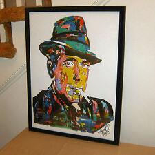 Humphrey Bogart Casablanca Key Largo Celebrity Actor Poster Print Wall Art 18x24
