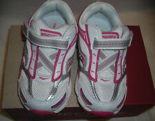 Saucony Baby Ride Girls Hot Pink White Leather Tennis Shoes 8.5 M ST32510