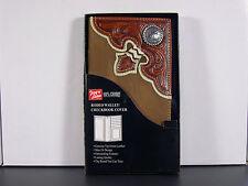 Western Checkbook Cover Wallet Billfold Rnd Concho Arrowhead Checkbook
