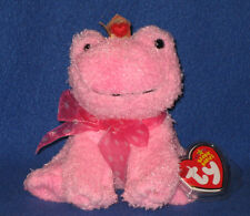 TY KISSABLE the VALENTINE FROG BEANIE BABY - MINT with MINT TAGS