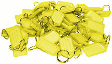 50x Key Tags YELLOW Bulk colour ID keytag key ring labels organise Kevron Style