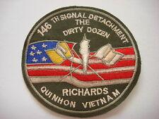 THE DIRTY DOZEN RICHARDS QUI NHON, Vietnam War US 146th SIGNAL DETACHMENT Patch