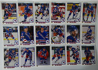 1990-91 Upper Deck UD New York Rangers Team Set of 18 Hockey Cards
