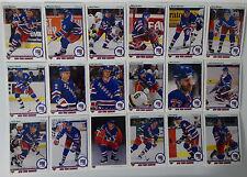 1990-91 Upper Deck UD New York Rangers Team Set of 18 Hockey Cards