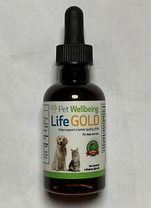 Pet Wellbeing Life Gold For Dog/Cat Immune system support/antioxidant 2oz