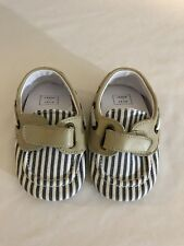 Janie and Jack Infant Boy Soft Sole Crib Shoes Size 3 Toddler Dock Loafers