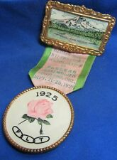 Vintage 1925 Portland, Oregon Odd Fellows 11th Session Rebekah Medal and Ribbon
