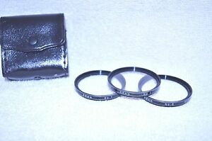 Vivitar Coated 49 mm Close Up Lens Set (+1,+2,+3) w Case Made in Japan (Q-311)