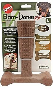 """SPOT Bambone Plus Chew Toy for Dogs Beef 7"""", Assorted, 54493"""