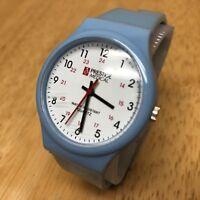 Vintage Prestige Medical Men Lady Blue White Analog Quartz Watch Hour~New Batter