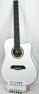 FOR REPAIR Oscar Schmidt OD312-CE 12 St  Acoustic-Electric Guitar WHITE #R9010