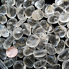 1 x Rock Crystal Clear Quartz Tumblestone Helps with Improving Self Respect