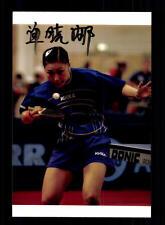Shan Xiao Na Autogrammkarte Original Signiert Tischtennis + A 134545