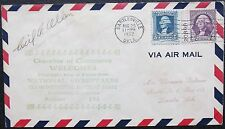 Cecil A. Allen Racing Pilot Killed in Gee Bee R-1 In 1935 Signed Cover ''Rare''