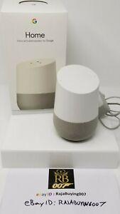 Google Home Smart Assistant Activated Smart Speaker - White Slate
