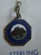 Vintage enamel Great Smoky Mountains Tennessee North Carolina sterling charm