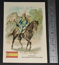 CHROMO BON-POINT ECOLE 1900-1910 ESPAGNE ESPAÑA HUSSARDS DE LA PRINCESSE