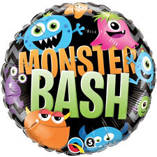 "HALLOWEEN PARTY SUPPLIES BALLOON 18"" MONSTER BASH HORROR PARTY QUALATEX BALLOON"