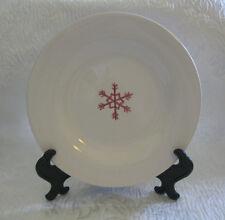 "Pottery Barn KEEPSAKE SNOWFLAKE Desert Plate ~ 8.25"""