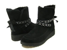 UGG ALISIA WOMEN ANKEL BOOTS SUEDE BLACK US 8 /UK 6.5 /EU 39 /JP 25