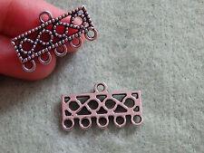 10 jewellery findings bracelet connector links clasp Tibetan silver antique -17