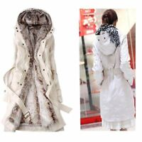Winter Women's Thicken Warm Coat Hooded Parka Overcoat Long fur Jacket Outwear