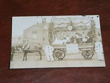 More details for original real photo postcard - horse & float, national deposit friendly society.