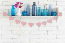 """2Pc Pink Heart Pattern Banner Felt 10-Flags Bunting Garland Party Decor 110"""""""