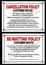 DOG GROOMING - CANCELLATION & DEMATT  SIGNS by GROOMERGRAPHIX