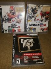 lot of 3 SONY ps3 games Guitar Hero5, NCCA FOOTBALL 10, MADDEN 10  GUC