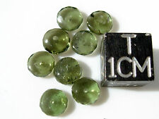 1 MOLDAVITE checkered cut bead size about 6mm x 3mm each - total of 1 BEAD