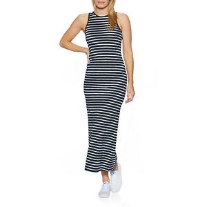 Superdry Jersey Maxi Womens Skirt/dress Dress - Eclipse Navy Stripe All Sizes