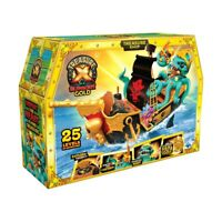 New Treasure X S5 Sunken Gold Treasure Ship Playset For Kids Christmas Gift F1