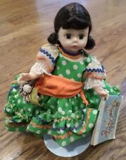 """Madame Alexander Brazil In Costume, 8"""" Tagged Outfit Doll Of The World Bent Knee"""