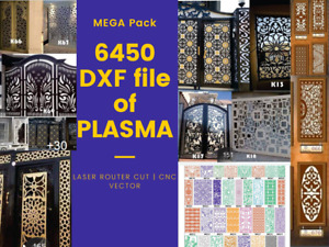 6450 Dxf file CNC Vector DXF Plasma Router Laser Cut DXF Files TESTED CNC