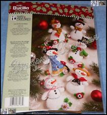 Bucilla Engelbreit LET IT SNOWMAN Ornaments Felt Applique Christmas Kit - 86186