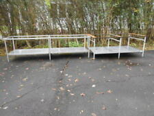 (2)Large Used Heavy Duty Stainless Steel Prep Tables Without Tops