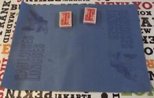Ancien Tapis de Jeu de cartes Publicitaire cigarette Gauloise casque emblème