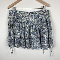H&M Womens Skirt Size US 12 AU 16 Paisley Floral Good Condition