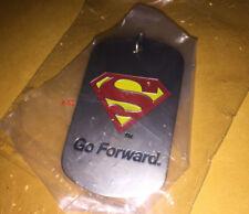 SUPERMAN go FORWARD keychain KEY RING toy CHRISTOPHER REEVE foundation DC