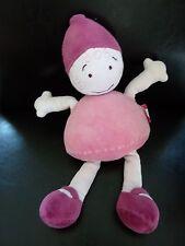 *- Doudou poupée Fille Lutin rose et violet  Bobigny MARESE 32 cms  - TBE