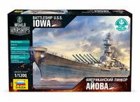 Zvezda 9201 Battleship U.S.S. IOWA. World of Warships. Model Kit 1/1200