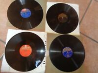 """LABEL DECCA - 4 VINYLS 78 RPM SHELLAC 10"""""""