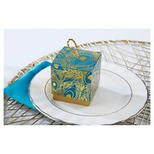 Kate Aspen 24 Peacock Foil Favor Boxes Set Of 24 Theme Favors Boxes 28236NA